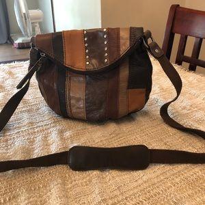 The Sak medium patchwork purse brown